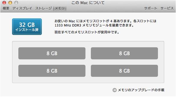 iMac 27インチ Mid2011 メモリ