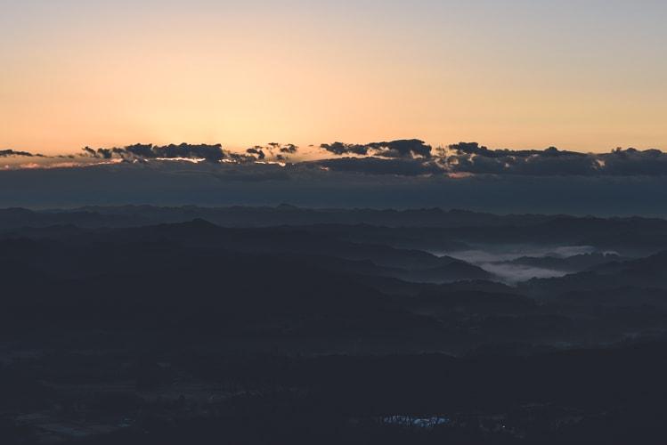 九十九谷展望公園 初日の出