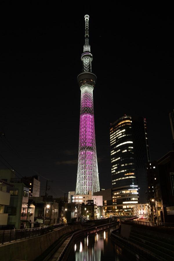 夜景写真 現像 東京スカイツリー