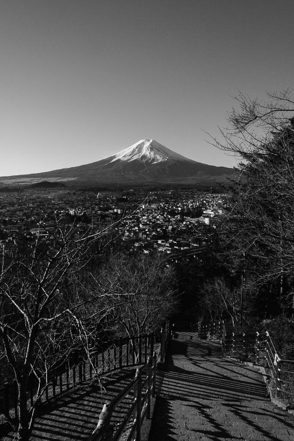 富士山 ACROS モノクロ