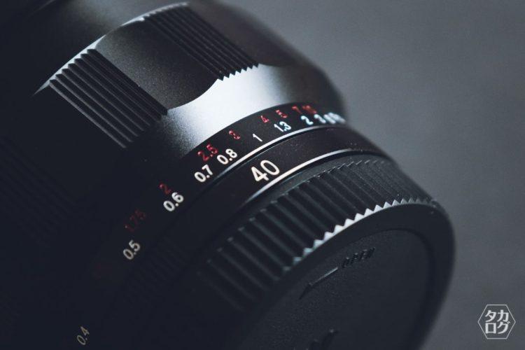 焦点距離40mm 単焦点レンズ
