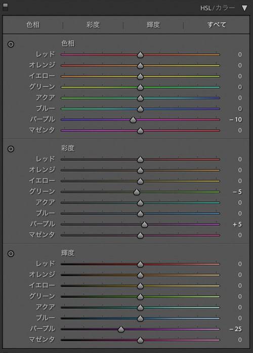 Lightroom Classic 現像 ハイライト-100 シャドウ+100 雨の日