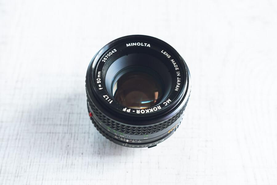 ミノルタ MC ROKKOR-PF 50mm f1.7