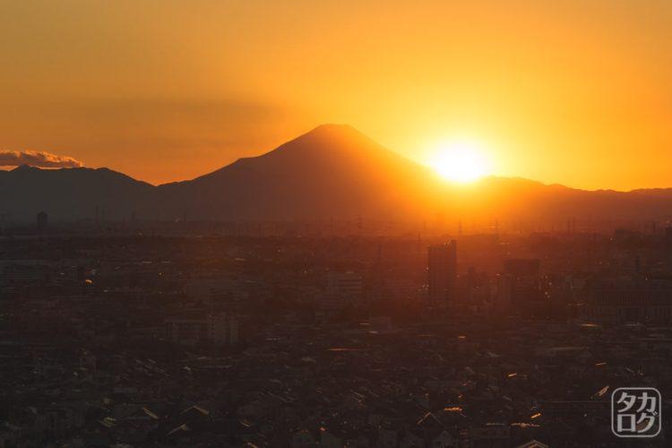 富士山 夕景 越谷夕景