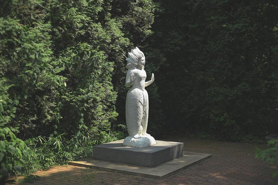 武蔵丘陵森林公園 道標 奥山泰堂
